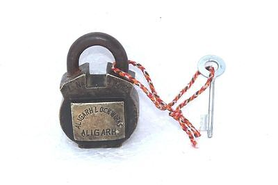Brass Lock and Key 1900's Old Vintage Antique Rare Collectible PD-54