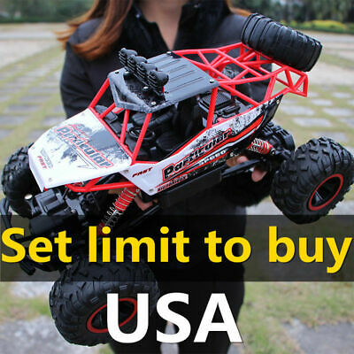 4WD RC Monster Truck Off-Road Vehicle 2.4G Remote Control Buggy Crawler Car 1/12