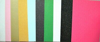 10 x A5 Sheets Assorted Non Shed Silver Glitter Card 250/400gsm NEW