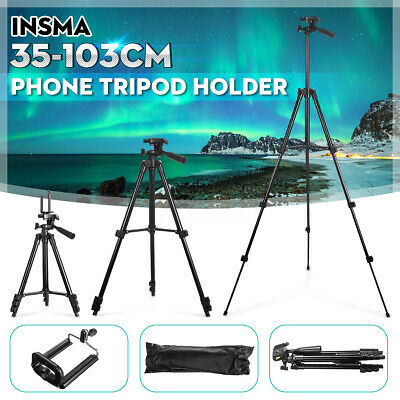 INSMA Aluminun Adjustable Tripod Stand Mount Holder Clip for Mobile Phone Camera