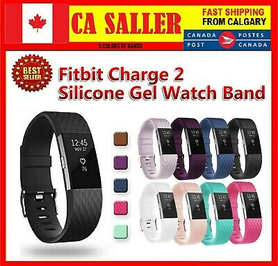 Sport Silicone Replacement Rubber Watch Strap Band For Fitbit Charge 2 band