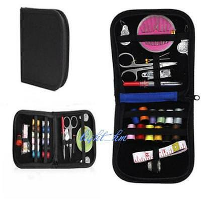 Sewing Tool Kit Storage Bag Thread Needle Measure Tape Scissor Box Travel DS