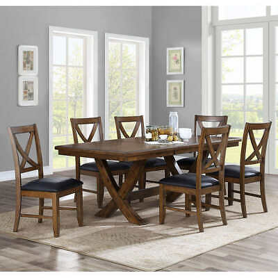 Amazing New Whalen Furnishings Valaria Dark Wood 7 Piece Table Beatyapartments Chair Design Images Beatyapartmentscom
