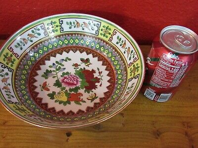 """Rare 9"""" Chinese vintage porcelain hand painted serving bowl"""
