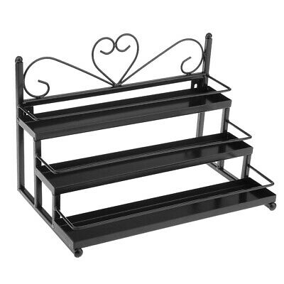 Nail Polish Display Rack Metal Wall Mounted 3 Tier Organizer Hold 36