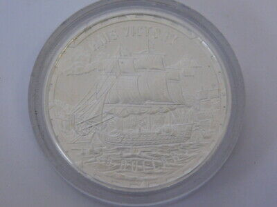2005 Solomon Islands HMS Victory Warship $25 Crown Coin Proof Silver.