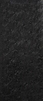 Faux Leather Ostrich Black Upholstery Fabric 54'' --  Fabrics Forever