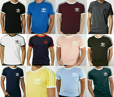 Adidas Men's Retro California Trefoil Short Sleeve Crew Neck T-Shirt S M L XL