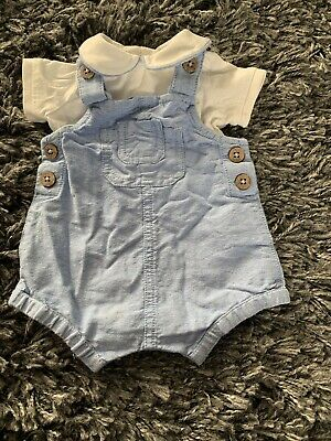 963293828 PETER RABBIT GREY and white cotton bib-shorts romper outfit 9-12 ...