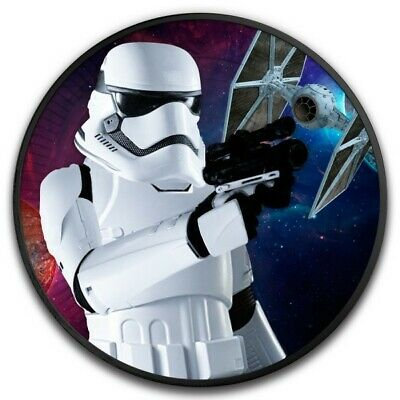 STORMTROOPER Star Wars Spaceship Ruthenium 1 Oz Silver Coin 2$ Niue 2018