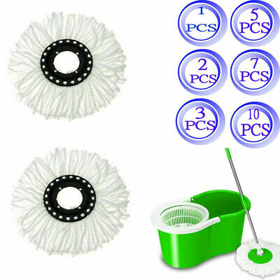 Replacement Microfiber Mop Head Refill For Spin Mop 360° LOT