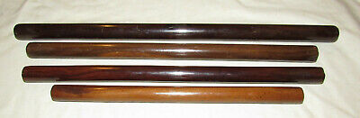 4 antique cylindrical straight edges rules antique ruler