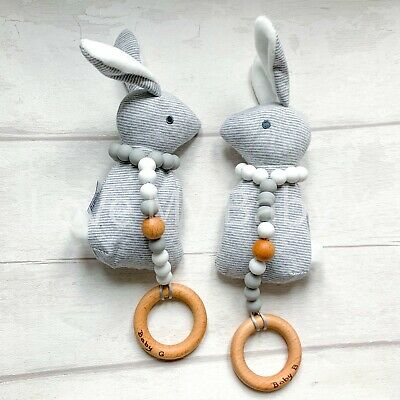 Silicone Teething Toy| Personalised| Teether| Christening | Baby Shower| Bunny
