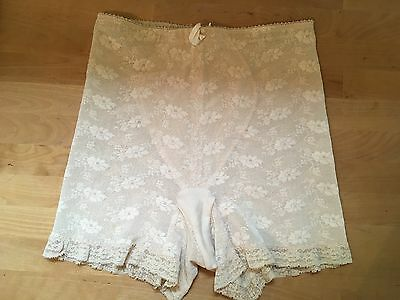 Vintage Promise by Poirette Nude Lace Girdle Panties Spanx USA: Size 27 - 28