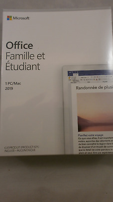 Microsoft Office 2019 Home & Student Multilingue 1 PC( Code IN The Box)