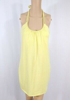 c9d2014ce7a3 Victoria's Secret Bra Top Halter Sundress S Pale Pastel Yellow Jersey Summer