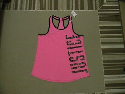 Nwt Justice Girls  Active Logo T-Back Tank Bright Berry Poly 10/12 Plus