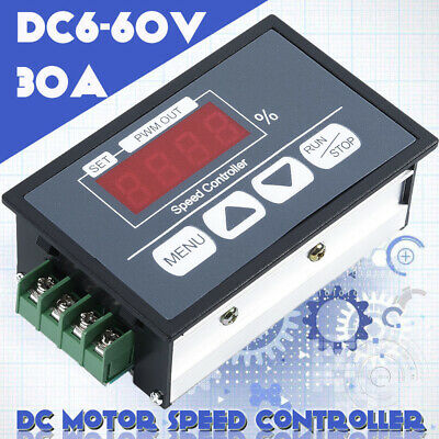 500W 20A 12-24V DC Brush Motor PWM Speed Controller with