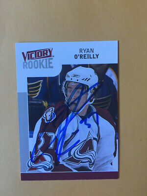 Ryan O'reilly Signed St. Louis Blues Ud Victory Rookie Card Stanley Cup