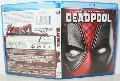 Deadpool (Blu-ray Disc, 2016) - NEW BLU-RAY & CASE ONLY