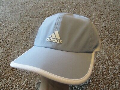 Adidas Womens Fit Climalite UPF50 Baseball Hat Adjustable Lt. Blue and White OS