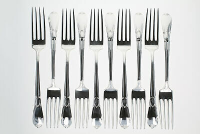 Frank Whiting Troubador Set of 10 Forks 1932-1950 Sterling Silver 7 7/8""