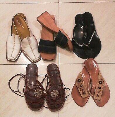 91a0869 scarpe zeppe usate in legno donna shoes woman used