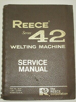 Reece Series 42 Speciality Industrial Sewing Machine Service Manual, 1974