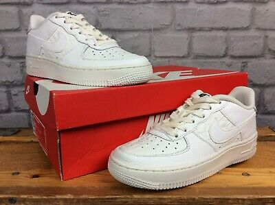 Nike Uk 3 Eu 35.5 White Air Force 1 Reptile Leather Trainers Ladies Childrens