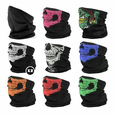 Pack of 10 Face Warmer Neck Tube Scarf Bandana Ski Motor Biker Mask Gaiter Snood