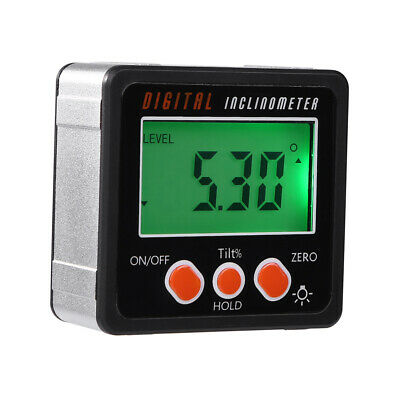 DV_ Magnetic Digital Protractor Angle Finder Bevel Level Box Inclinometer Meter