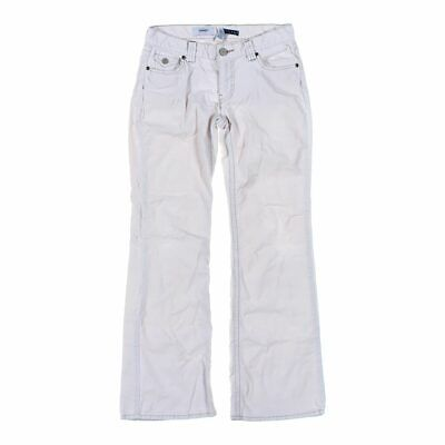 Old Navy Girls  Dress Pants size JR 1,  white,  cotton, spandex