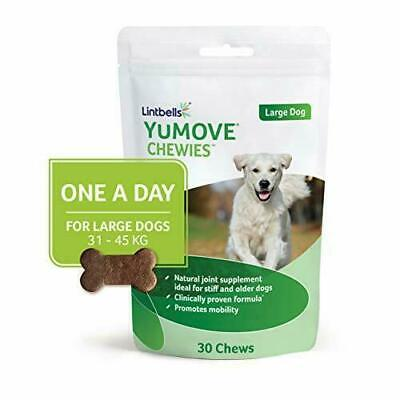 Lintbells Yumove ONE-A-DAY Large Chewies For Dogs, Pack of 30 Chews, 1-Month Sup