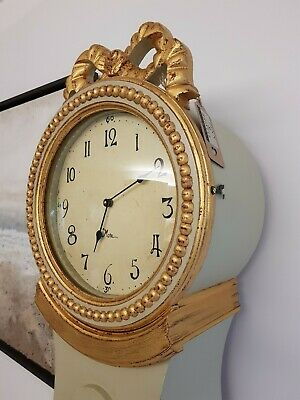 Swedish Styled Tibro Mora Clock - Available Painted Or Raw Solid Mango Wood