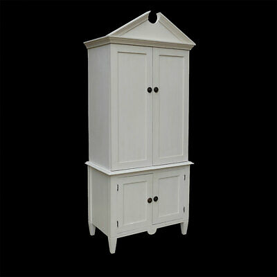 "Empire Armoire Wardrobe Linen Cupboard With Adjustable Shelves -""Raw"" Or Painted"