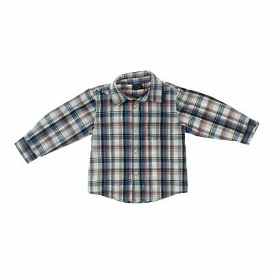 Faded Glory Boys Shirt, size 3/3T,  beige, blue/navy, grey,  cotton, polyester