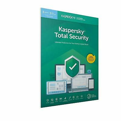 Kaspersky Total security 2019 3 PC Device 1 Anno Originale Completo antivirus