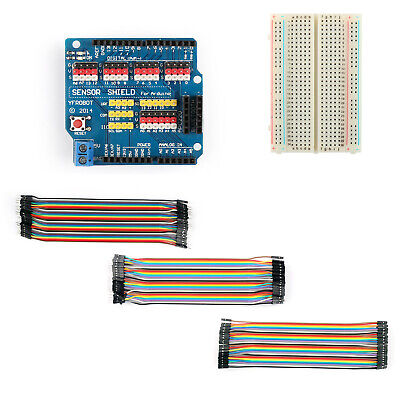 For Arduino UNO R3 V5.0 Electric Module+400 Point Breadboard+120xJumper Wire M/F