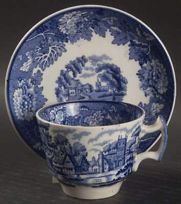 Wood & Sons ENGLISH SCENERY BLUE Demitasse Cup & Saucer 1725016