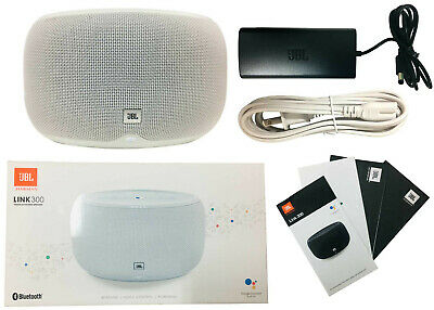 JBL LINK 300 Voice-Activated Bluetooth Multi-Room Speaker Google Assistant White
