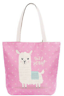 Fashion Soft Canvas Cute Animals Print Tote Bag Shopping Handbag