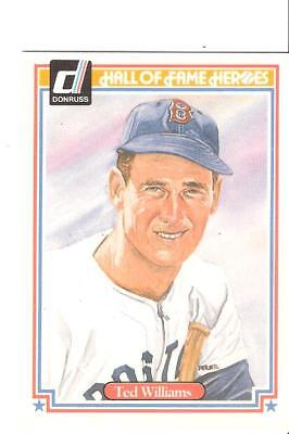 1983 Donruss Hall of Fame Heroes #9 Ted Williams Boston Red Sox  HOF