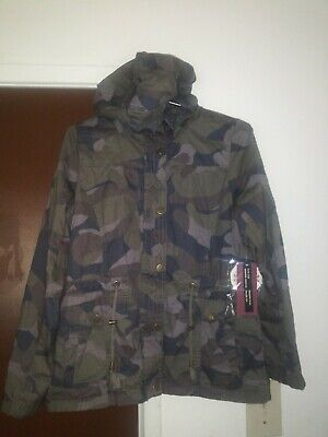 f797a116a2a71 Women's Camouflage Anorak Military Camo Drawstring Hooded Jacket ...
