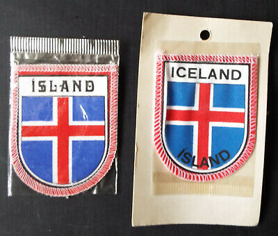 ICELAND Icelandic Country Flag Embroidered PATCH Badge *NEW*