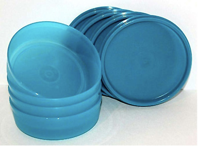 Tupperware Little Wonders Snack Bowls SET NEW 4pc Peacock Aqua New