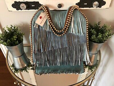 Big Buddha Gypsy Women's Purse Large Brass Studs Shoulder Strap NWT