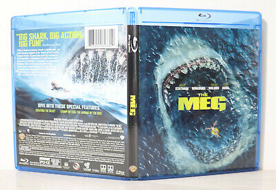 The Meg (Blu-ray Disc, 2018) - NEW BLU-RAY & CASE ONLY