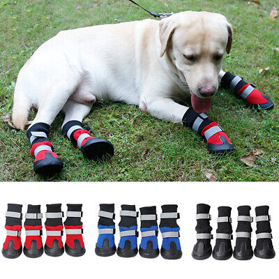 DV_ KQ_ 4Pcs Pet Non-slip Shoes Winter Dog Cat Boots Warm Puppy Booties Footwear