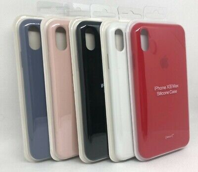 OEM Genuine Original Soft Silicone Case Cover For Apple iPhone XS Max XS 8 Plus