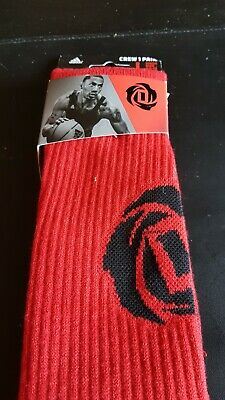 sale retailer bad39 d9eee ADIDAS Derrick Rose Climalite Basketball Socks Size Large (9.5-12) NEW